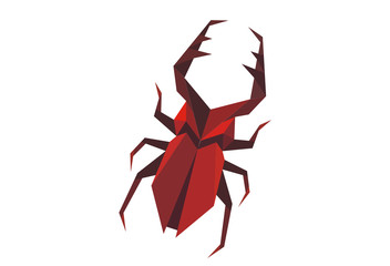 Stylized staghorn beetle