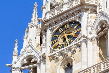 Detail of Zagreb's cathedral clock