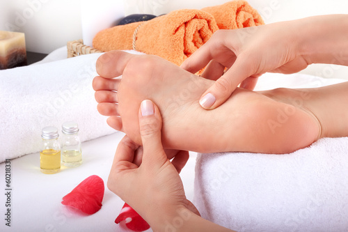 relaxing healthy foot massage