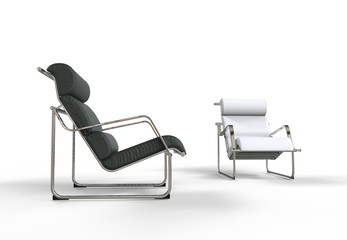 Black and White Modern Armchairs