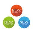New product flat button set