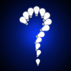 Question mark with lightbulb