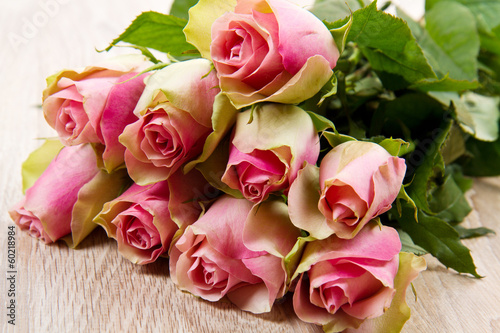 canvas print picture bouquet di rose rosa