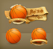 Basketball, vector icon