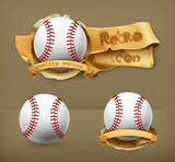 Baseball, vector icon