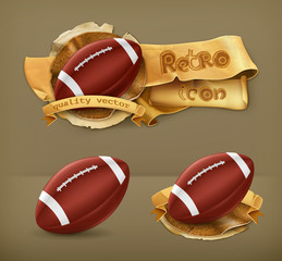American Football, vector icon
