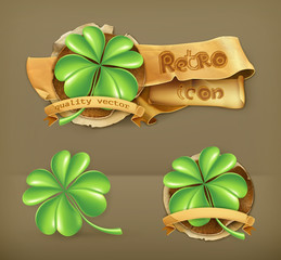 Lucky Clover, vector icon