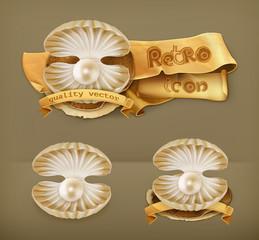 Pearl, vector icon