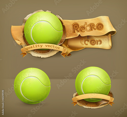 Tennis-ball, vector icon