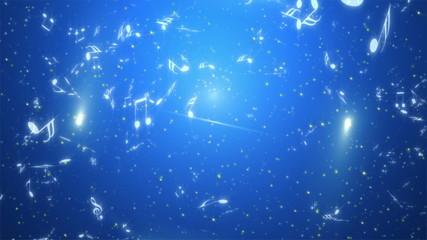 キラキラ音符の雨