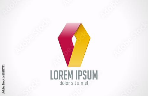 Logo Corporate Abstract business icon design template