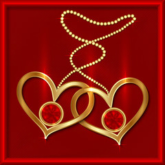 Vector saint valentine greeting card