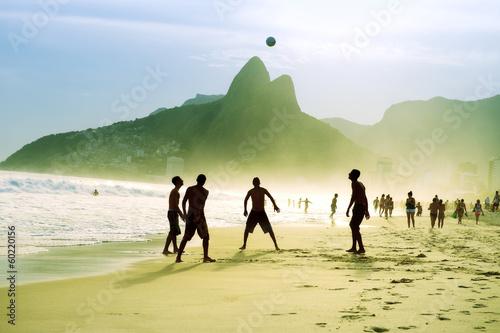 Poster Carioca Brazilians Playing Altinho Futebol Beach Soccer Football