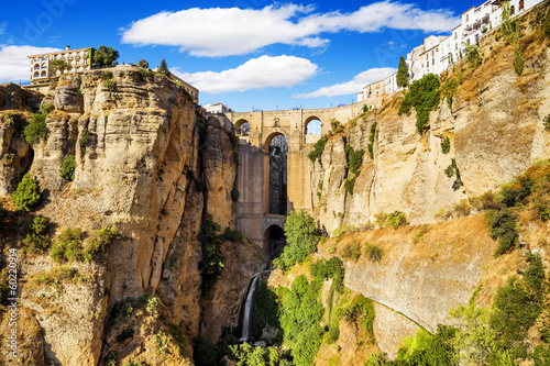 Bridge of Ronda, a famous white villages of Malaga, Spain a - 60220914