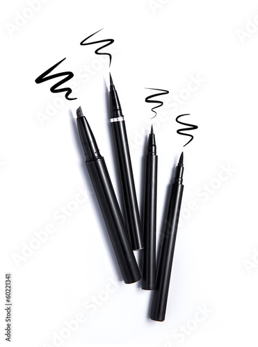 Eyeliners and stroke isolated on white