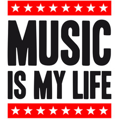 Music Is My Life Star Design