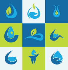 Flat water icons