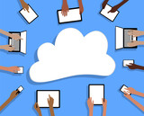BYOD Bring your own Device Tablets Cloud and Hands