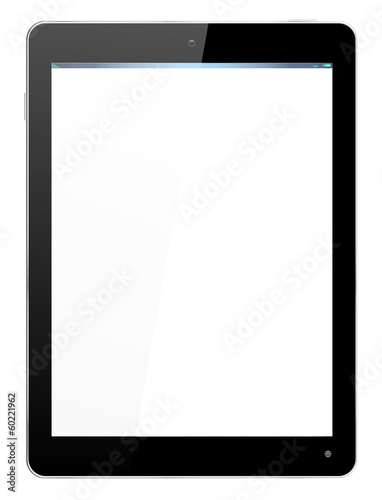 Realistic Computer Tablet in Black