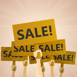 Sale Wooden Hand Signs