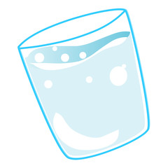 glass with water isolated illustration