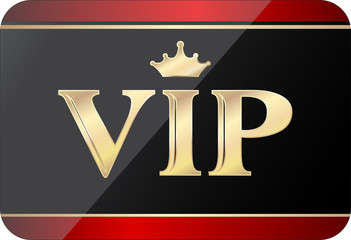 vip gold black gift card, fully editable vector