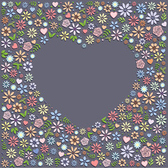 Heart Shape Flower Background