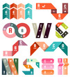 Set of stripes infographic design templates