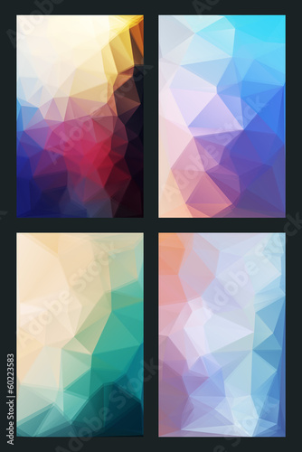 vector abstract background in modern style flat