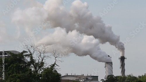 Footage of Smoke from factory
