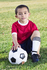 Portrait of a Young Hispanic Soccer Player