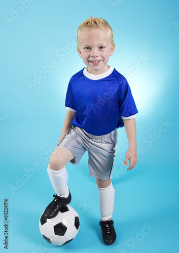 Cute little Soccer Star Portrait