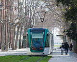 Ordinary tramway in Barcelona