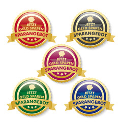 Discount Offer 5 Golden Buttons