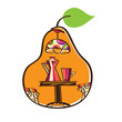 Duchess pear - the symbol for the cafe