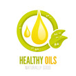 Healthy oils ecologic label design