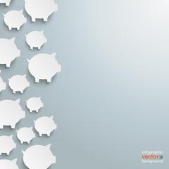 White Piggy Banks Side