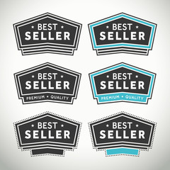 Best seller seals and badges