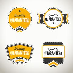Quality guarantee seals and badges