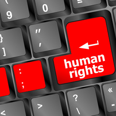 human rights button on computer keyboard pc key