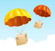 Vector parachute background. Air shipping concept - 60226750