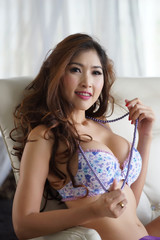 Sexy young woman in lingerie