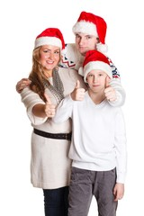 Happy family. Christmas.