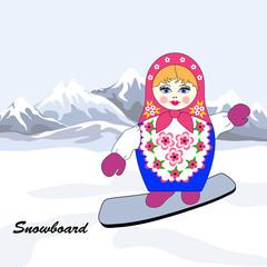 Russian dolls snowboarder