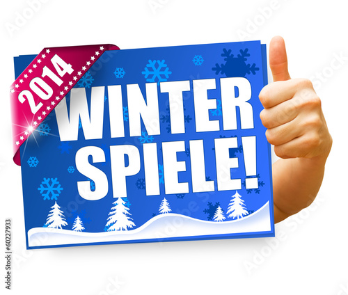 Winterspiele 2014! Button, Icon