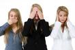 three women seeing, hearing and saying nothing