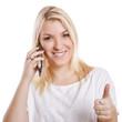 Daumen hoch zum telefonieren