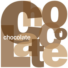 """CHOCOLATE"" Letter Collage (dark cocoa dessert pleasure cake)"