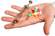 pill in a hand
