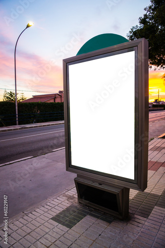 white billboard in a street